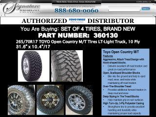 265 70R17 Toyo Open Country M T Tires Lt 10 Ply