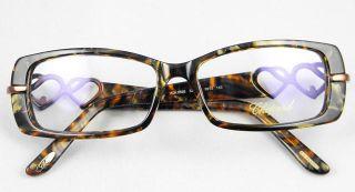 Women Ladies Black Golden Plastic Love Eyeglass Frames Optical Fashion