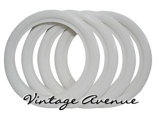 Vintage Collector Car Automobile White Wall Tires 12