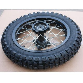 12 Black Rear Rim Wheel Honda XR50 CRF50 110cc 125cc 140cc 150cc Dirt