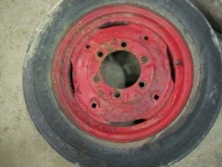 IH Farmall 140 Tractor Front Tires Rims 5 00 15  2562