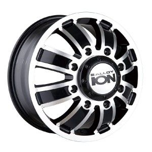 16 inch ion 166 Black Wheels Rims Dually 8x6 5 Silverado Sierra RAM