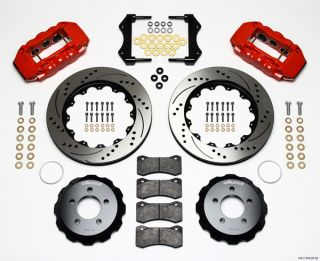 Wilwood Disc Brake Kit 05 10 Dodge Charger 300 14 Drilled Rotors Red