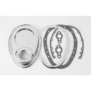 New Speedway 1969 1986 SBC Chevy Chrome Quick Change Cam Cover Kit for