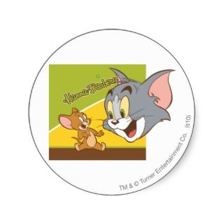 Tom and Jerry Hanna Barbera Logo Stickers