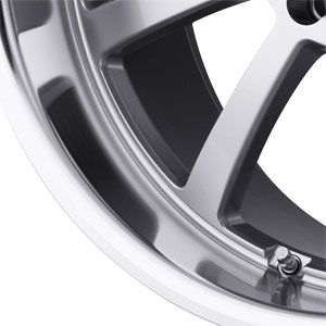 New 18X8 5 112 Willow Hyper Silver Machined Wheel/Rim