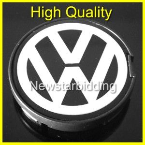 VW 55mm Emblem Wheel Center Caps Passat Jetta Golf 6N0601171 Good