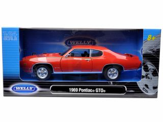 1969 Pontiac GTO Judge Orange 1 24 Diecast Car Model