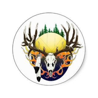 mule deer skull stickers