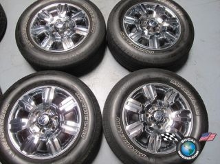 09 11 Ford F150 Factory 18 Chrome Clad Wheels Tires Expedition 3785