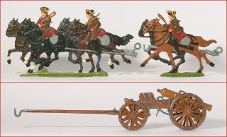 German Tin Flats Seven Years War Austrian Horse Drawn Artillery 1760