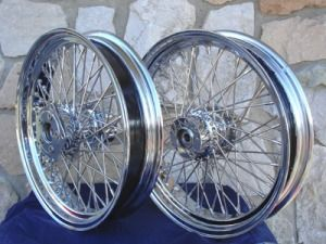 21X2.15 & 16X3 80 SPOKE CHOPPER FRONT & REAR WHEEL SET FOR HARLEY