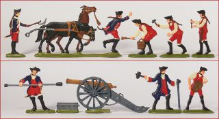 German Tin Flats Seven Years War Prussian Artillery Maintenance 1760
