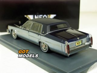 Cadillac Fleetwood Brougham 1980 1 43 Scale Model by Neo Blue 43556