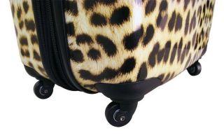 Heys USA TC Safari Exotic XCASE Expandable Luggage Set Leopard