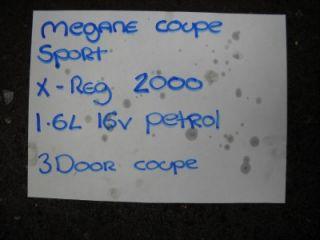 Renault Megane Coupe 1 6 16V One Ignition Coil Pack