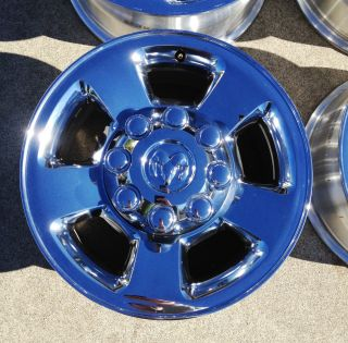 3500 RAM Hemi Cummins Stock Factory 17 Chrome Wheels Rims Caps