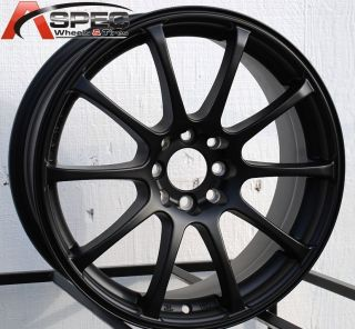 17 G Force Style Black Wheel Fit 4x100 Honda Civic SI Fit Scion XA XB