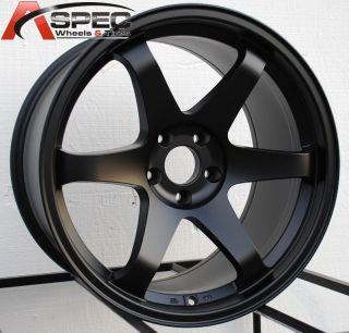 TEK UO07 MATT BLACK WHEEL FITS NISSAN 350Z 370Z 2002 2012 5X114.3 RIMS