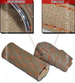 Set New Dazzle Cool Leather Auto Car Gear Shift Knob Cover Handbrake