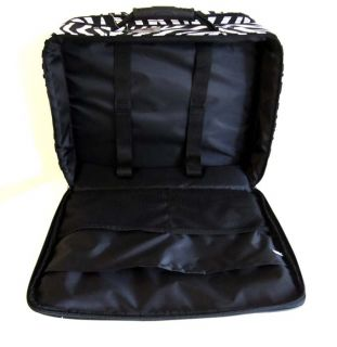 16 Computer Laptop Briefcase Rolling Wheel Luggage Upright Padded Bag
