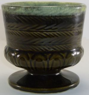 Vintage Hull Art Pottery Green FTD Planter F84 as Is