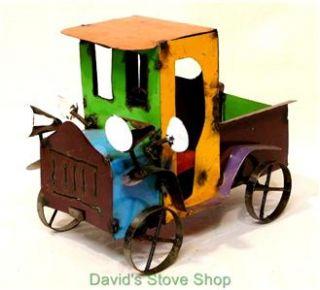 Recycled Metal Yard Garden Folk Art 14 Pickup Truck Sculpture MI197