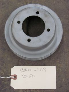 You are bidding on a 1970 Oldsmobile Cutlass 442 W30 Crank Pulley with
