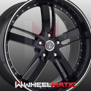 Set of 4 New 22 Versante 223 5x130 35 Wheels Rims Black