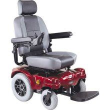 CTM HS 5600 Heavy Duty Rear Wheel Drive Electric Power Chair Red