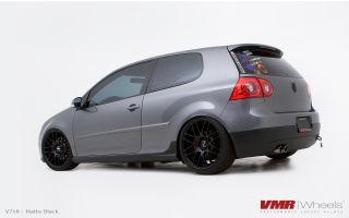 19x8 5 VMR 718 Matte Black Wheel 5x112 Fit Audi A3 TT VW Golf GTI