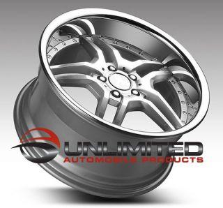 19 Euromag EM2 Wheels Rim Fit Mercedes C W203 CLK W208 CLS E s SL SLK