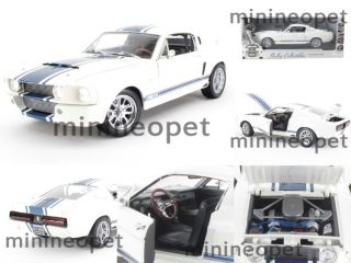 Collectibles 1967 Shelby GT500 GT 500 Super Snake 1 18 White w Blue