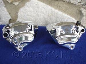 Chrome Brake Caliper Parts for Harley Dyna Softail Sportster 2000 07