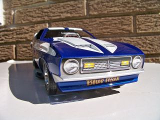 18 Autoworld 1971 Ford Mustang Blue Max Supercharged Funny Car