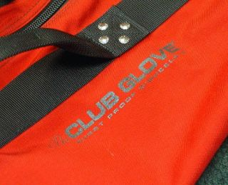 Club Glove Burst Proof with Wheels II Red Travel Case Bag w Stiff Arm