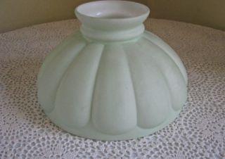 Antique Pale Green Satin Glass Kerosene Lamp Shade 10 Diameter