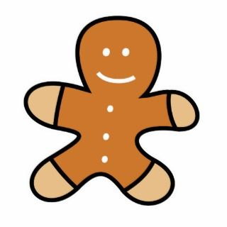 Gingerbread Man Cookie Acrylic Cut Out