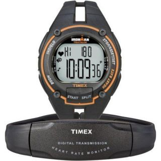 Timex Ironman Triathlon Road Heart Rate Monitor Running Watch Orange