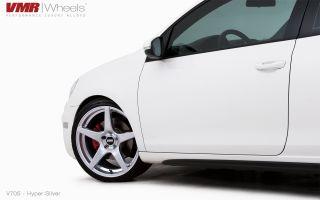 19x8 5 VMR 705 Hyper Silver Wheel 5x112 Fit VW CC Golf GTI Jetta