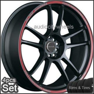 17 Wheels Tires Tenzo DC5 Rims Lexus Maxima Scion
