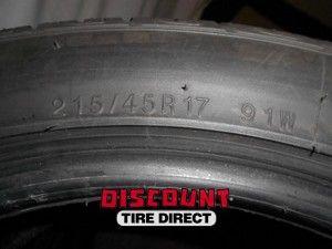 Used 215 45 17 Kumho Ecsta ASX Tires 45R R17