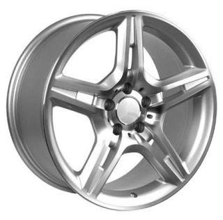 17 Silver AMG Wheels Set of 4 Rims Fit Mercedes C E s Class SLK CLK