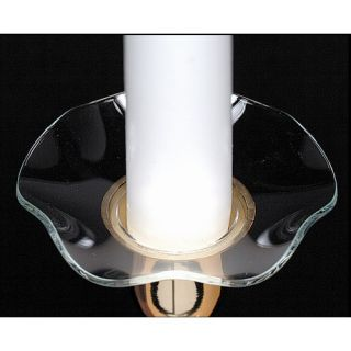 Biedermann and Sons Serrated Edge Glass Bobeche Candle Holder Set of 4