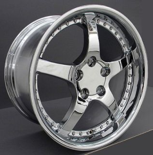 17 Chrome C5 Style Wheels Tires Set of 4 Rims Fit Corvette C4