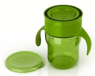 Avent Spill Proof Drinking Green Cup 12m+ BPA FREE Natural 9oz Sippy