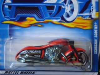 Hot Wheels 2000 Collectors Scorchin Scooter Orange 240
