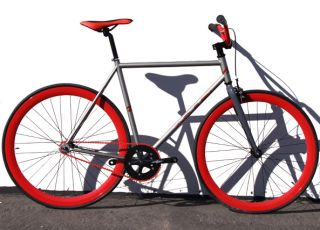 Fixed Gear Bike Fixie Bike Road Bicycle w BMX Handlbar Sz 48 52 56 cm