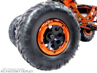 Huge Rock Crawler Tyres with Alloy Outer Secured by 5 Hex Screws