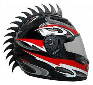 Motorcycle Helmet Mohawk Spikes Sawblade Warhawk Motorcycles motox ATV